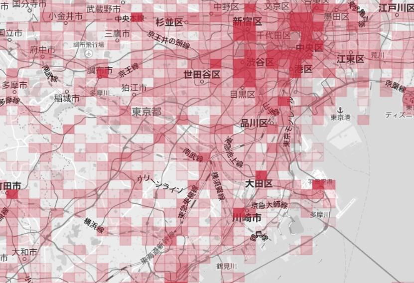 「ナイトレイGIS データパック」実際の画面